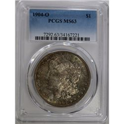 1904-O MORGAN DOLLAR PCGS MS63