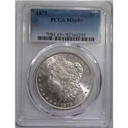 1879 MORGAN DOLLAR PCGS MS65+