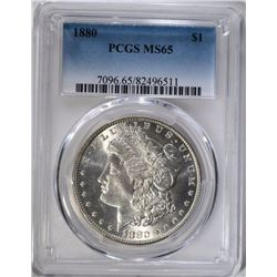 1880 MORGAN DOLLAR PCGS MS65