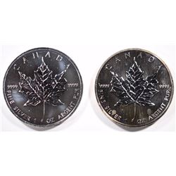 1989 & 2011 MAPLE LEAFS 1oz .999 SILVER