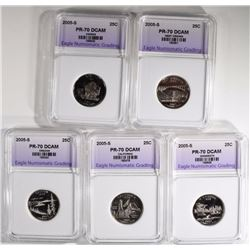 2005-S STATE QUARTER SET ENG PERFECT GEM PF DCAM