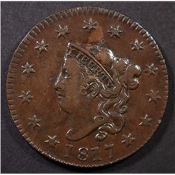 1817 LARGE CENT XF/AU MARKER ON REV.