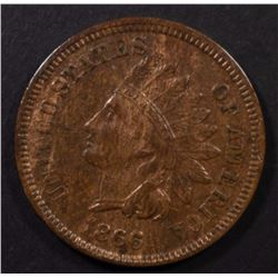 1866 INDIAN CENT XF