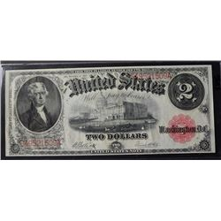 1917 $2.00 LEGAL TENDER NOTE, CH UNC BEAUTIFUL