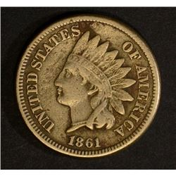 1861 INDIAN HEAD CENT, VF