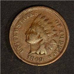 1869 INDIAN CENT, VG