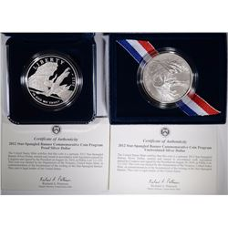 2012 STAR SPANGLED BANNER UNC & PROOF
