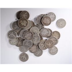 47 BARBER QUARTERS MOSTLY WITH FULL DATES