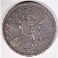 1837 REEDED EDGE HALF DOLLAR, VF/XF