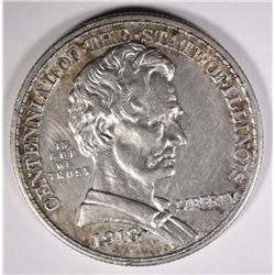 1918 LINCOLN COMMEM HALF DOLLAR, CH BU