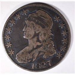 1827 CAPPED BUST HALF DOLLAR, VF