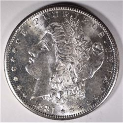 1881-S MORGAN DOLLAR CH BU, FLASHY!!