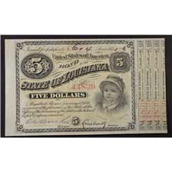 1875 FIVE DOLLARS BABY BOND  GEM CU