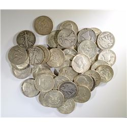 $20 - 90% SILVER HALVES - GREAT MIX -