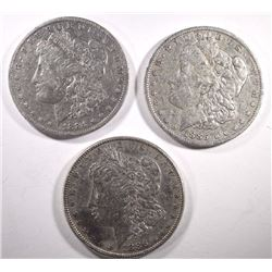 1884-O, 1885-O, 1886 MORGAN DOLLARS