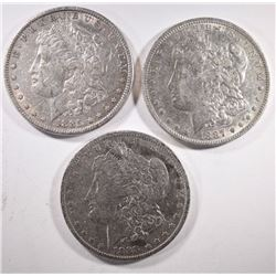 1885, 1887-O, 1888-O MORGAN DOLLARS
