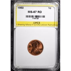 1950 LINCOLN CENT LVCS SUPERB GEM BU RED