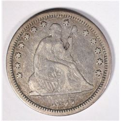 1877-CC SEATED QUARTER  FINE+