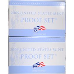 (2) 2009 U.S. PROOF SETS IN BOX W/COA