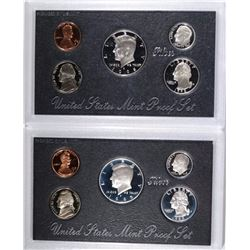 1995 & 1998 U.S. SILVER PROOF SETS IN ORIG PAC