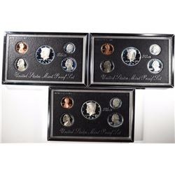PREMIER SILVER PROOF SETS; 1992, 1995, 1996