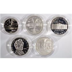 Group of 5 Commemoratives