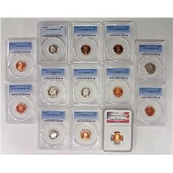 COLLECTORS LOT: (13) GRADED COINS SEE DESCRIPTION