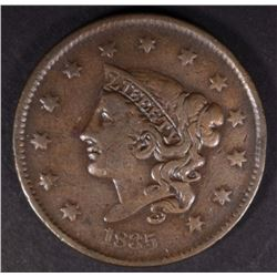 "1835 ""SMALL 8"" LARGE CENT, VF"
