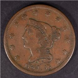 1841 LARGE CENT, VF KEY DATE