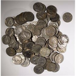 100 BUFFALO NICKELS F/XF MOSTLY VF
