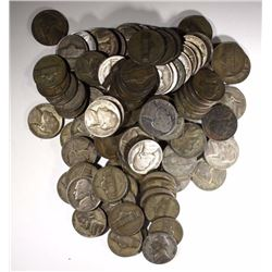 100-CIRC SILVER JEFFERSON WAR NICKELS