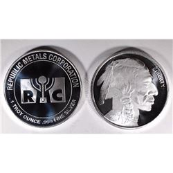 2-DIFFERENT ONE OUNCE .999 SILVER ROUNDS