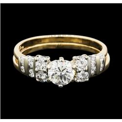 14KT Two Tone Gold 1.21ctw Diamond Ring