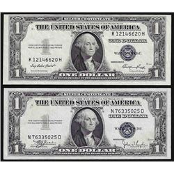 Lot of (2) 1935 $1 Silver Certificate Notes