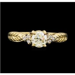 14KT Yellow Gold 0.78ctw Diamond Ring