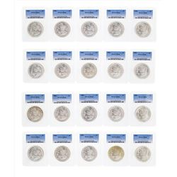 Lot of (20) 1886 $1 Morgan Silver Dollar Coins PCGS MS64