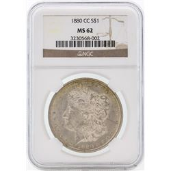 1880-CC $1 Morgan Silver Dollar Coin NGC MS62