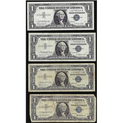 Lot of (4) 1957 $1 Silver Certificate STAR Notes