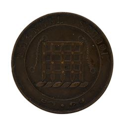 1900's England London Emanuel School Medal Portcullis