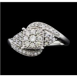10KT White Gold Ladies 0.50ctw Diamond Ring