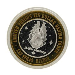 .999 Silver Las Vegas, Nevada Hilton $10 Casino Limited Edition Gaming Token