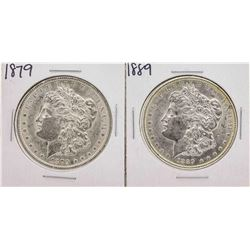 Lot of 1879 & 1889 $1 Morgan Silver Dollar Coins
