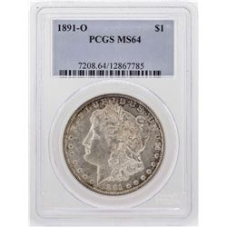 1891-O $1 Morgan Silver Dollar Coin PCGS MS64