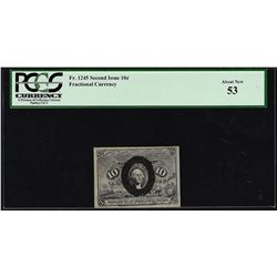 March 3, 1863 Ten Cent Second Issue Fractional Note PCGS About New 53
