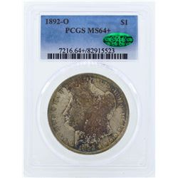 1892-O $1 Morgan Silver Dollar Coin PCGS MS64+ CAC