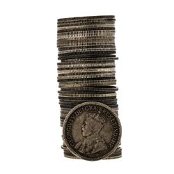 Roll of (50) 1911-1921 George V Canadian Nickels