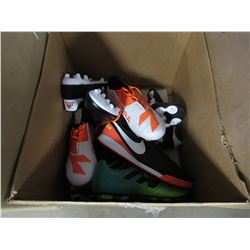BOX OF NEW MIX MATCH SIZED CLEATS