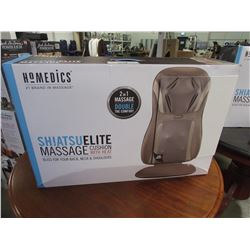 HOMEDICS SHIATSU ELITE 2-IN-1 MASSAGE CUSHION WITH HEAT