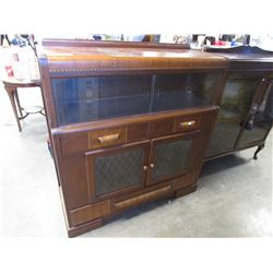 "ANTIQUE ART DECO CABINET 46.25""W X 15.75""D X 50""H"