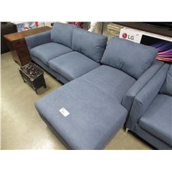 NEW BLUE 3 SEATER SECTIONAL SOFA